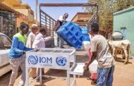 IOM Provides 20 handwashing facilities for homeless person in Khartoum.