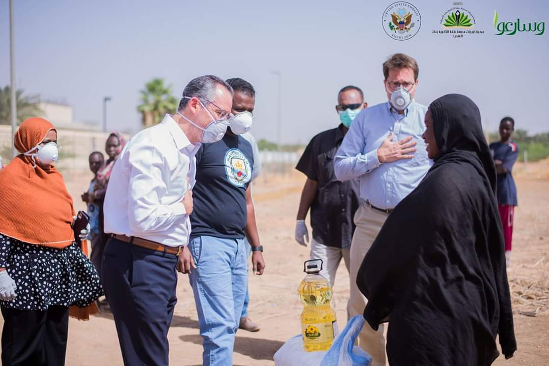 US EMBASSY DISTRIBUTES RAMADAN  BAGS TO NEEDY FAMILIES, LIVING NEAER THE COMPOUND