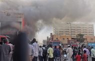 MASSIVE FIRE ERUPTED NEAR SUDAN'S PRESIDENTIAL PALACE