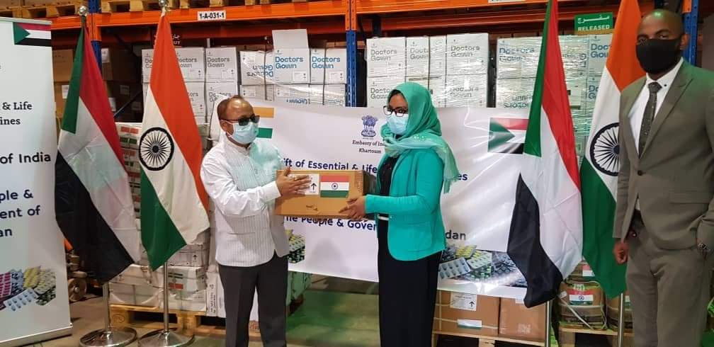 Gift of essential life saving medicines by India to Sudan